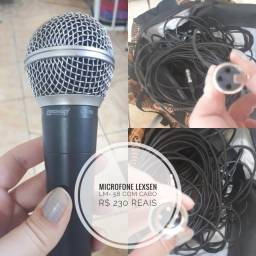 Microfone Lexsen LM 58 com cabo