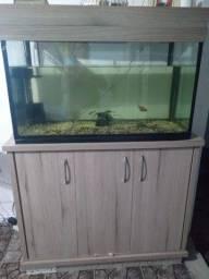 vendo aquario 200 litros com móvel