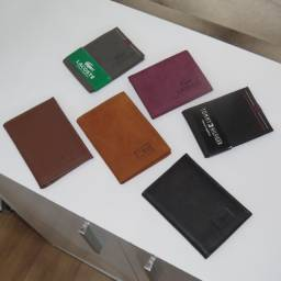 R$30,00 - Carteira masculina e porta cartão couro legitimo - até 12X no cartao