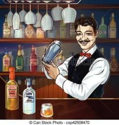 Contrata-se Barman com experiência.