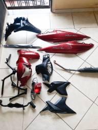 Peças da Honda Biz 2019 vermelha