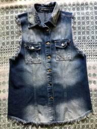 Colete jeans feminino - Tamanho: M