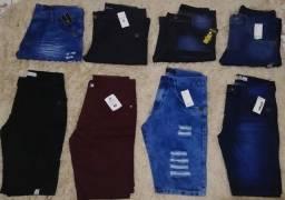 Kit 3 Bermudas Jeans Excelentes