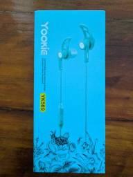 Fone intra-auricular esportivo Yookie YK560