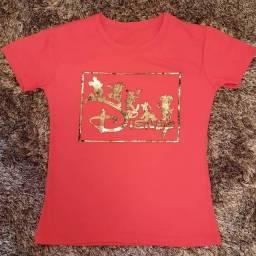 Camiseta feminina (algodão)