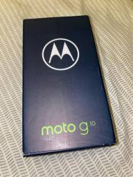 Moto G10 na caixa