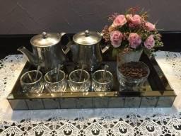 Bandeja Espelhada Bronze 50 x 30 cm (Bar, Bebidas, Café)