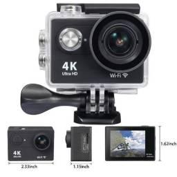 Camera Action Cam 4K 16MP - Com acessórios - Novo na caixa