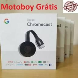 Chromecast 2 Modelo 2018 Smart TV + Original, Youtube, Google, Netflix + Motoboy Grátis