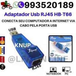 Adaptador Usb Rj45 Conecta seu computador a Internet Via Cabo pela porta Usb