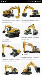 Escavadeira caminhões retroescavadeira