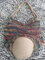 Bolsa couro camurça colorida