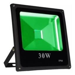 Refletor Led Holofote 30w Verde Bivolt Ip65 - Pronta Entrega