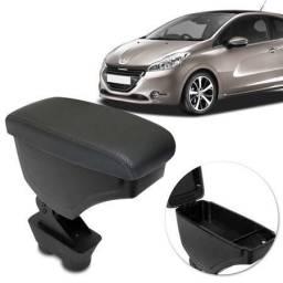 Título do anúncio: Encosto Descanso de Braço Apoio Peugeot 208 13 a 19 2008 16 a 19 Grafite Couro Ecológico