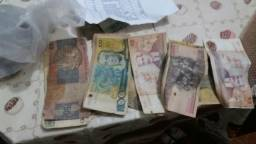 Dinheiro moedas antigas