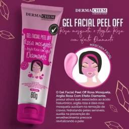 Gel Facial Peel Off - Rosa Mosqueta e Argila Rosa