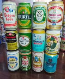 Coleção latas de cerveja antigas