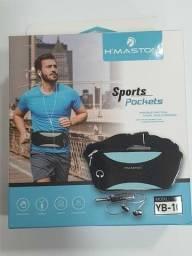 R$ 40 Pochete Impermeável Sports com saída de Fone - H'maston YB-1O