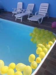 Salao de eventos com piscina