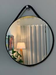 Espelho Adnet - 60cm - Cor: Preto - DoceLar