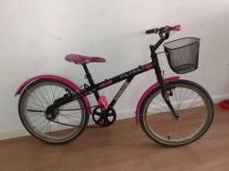 Bicicleta aro 20 Caloi Barbie