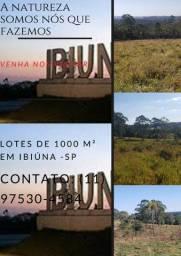 Terrenos de 1000 m²; venha desfrutar da natureza aqui em Ibiúna-SP
