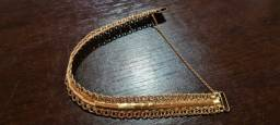 Pulseira nova top feita manual prata banhada a ouro