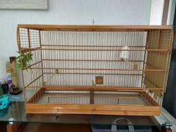 Gaiola passarinho de madeira