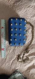 Bolsa de Corino azul