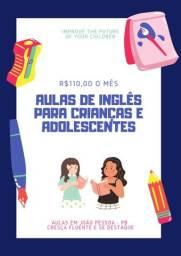 Aulas de inglês para crianças e adolescentes