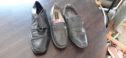Sapatos sociais de couro masculino (estoque brechó)