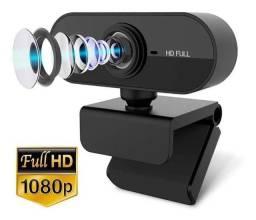 Webcam FullHD 1080P Microfone Câmera Usb Computador Notebook Tv Box
