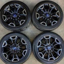 Rodas aro 16(Ford)+4 pneus 185/55 R16 Bridgestone!(2.250$ até 10x sem juros no cartão)