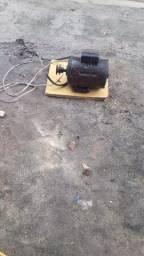 Motor e tambor de betoneira