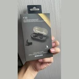 Título do anúncio: Fone De Ouvido Y30 Sem Fio Bluetooth 5.0   Tws  Wirelles Fones De Ouvido Duplo?