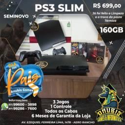Mês dos pais é na Anubis Games: PS3 Slim com 3 jogos!
