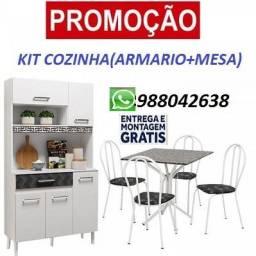 Explosão de Oferta!!Kit Cozinha(Armario+Mesa)Com Entrega e Montagem Gratis!!