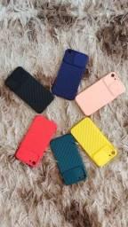 Capa Case Para IPhone 7 - Com proteção Slide de câmera