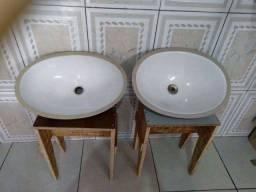 Cuba de porcelanato branco