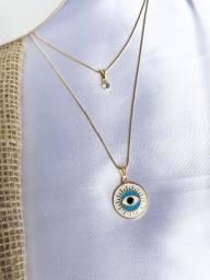 Colar Duplo Greek Eye.