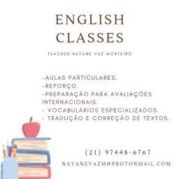 Aulas de Inglês com Prof.ª Nayane Vaz Monteiro (Fluente há 15 anos)