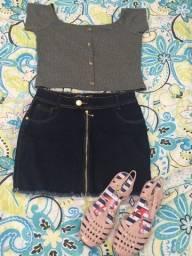 Vendo Saia, blusa e calça jeans