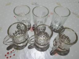 Jogo de 6 copos de licor<br>Novo!<br>