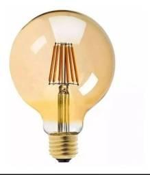 Lampada Vintage Led Filamento Globo Ambar G80 6w E27 2500k