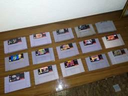 Lote De 15 Jogos Super Nintendo Snes 9 Originais