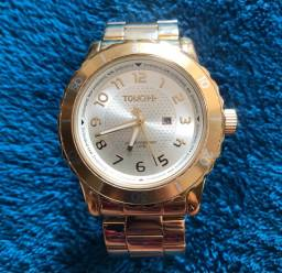 Relógio Touch Dourado