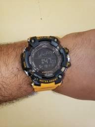 Relógio smael Orange militar/luxo
