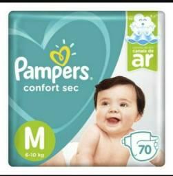 Fralda pampers confort sec - R$ 0,80 /tira  tamanho M