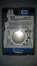 HD para Notebook 500GB Western Digital Slim (WD Blue)