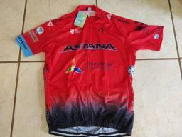 Blusa Ciclismo Astana G (com etiqueta)